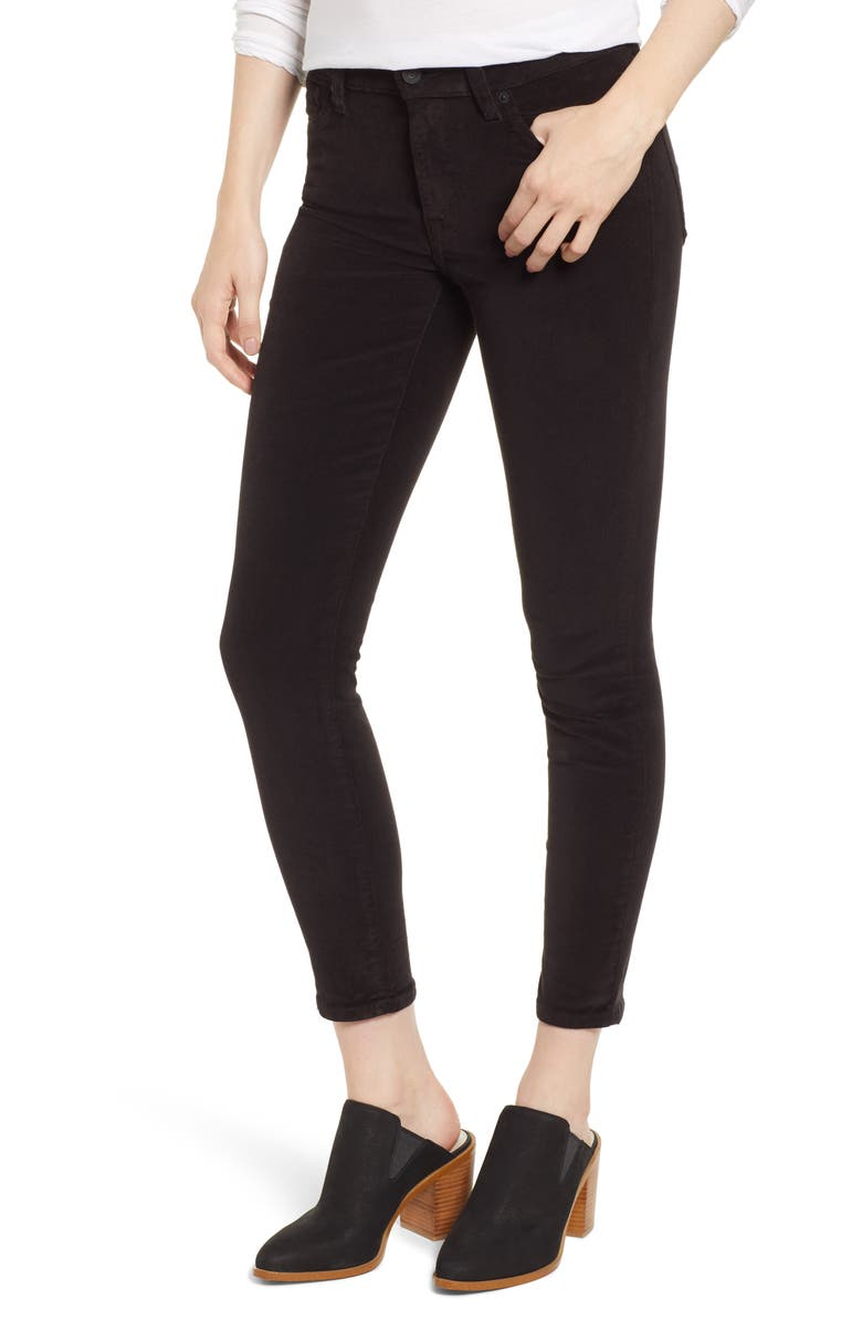 LUCKY BRAND Ava Skinny Ankle Corduroy Pants, Main, color, 001