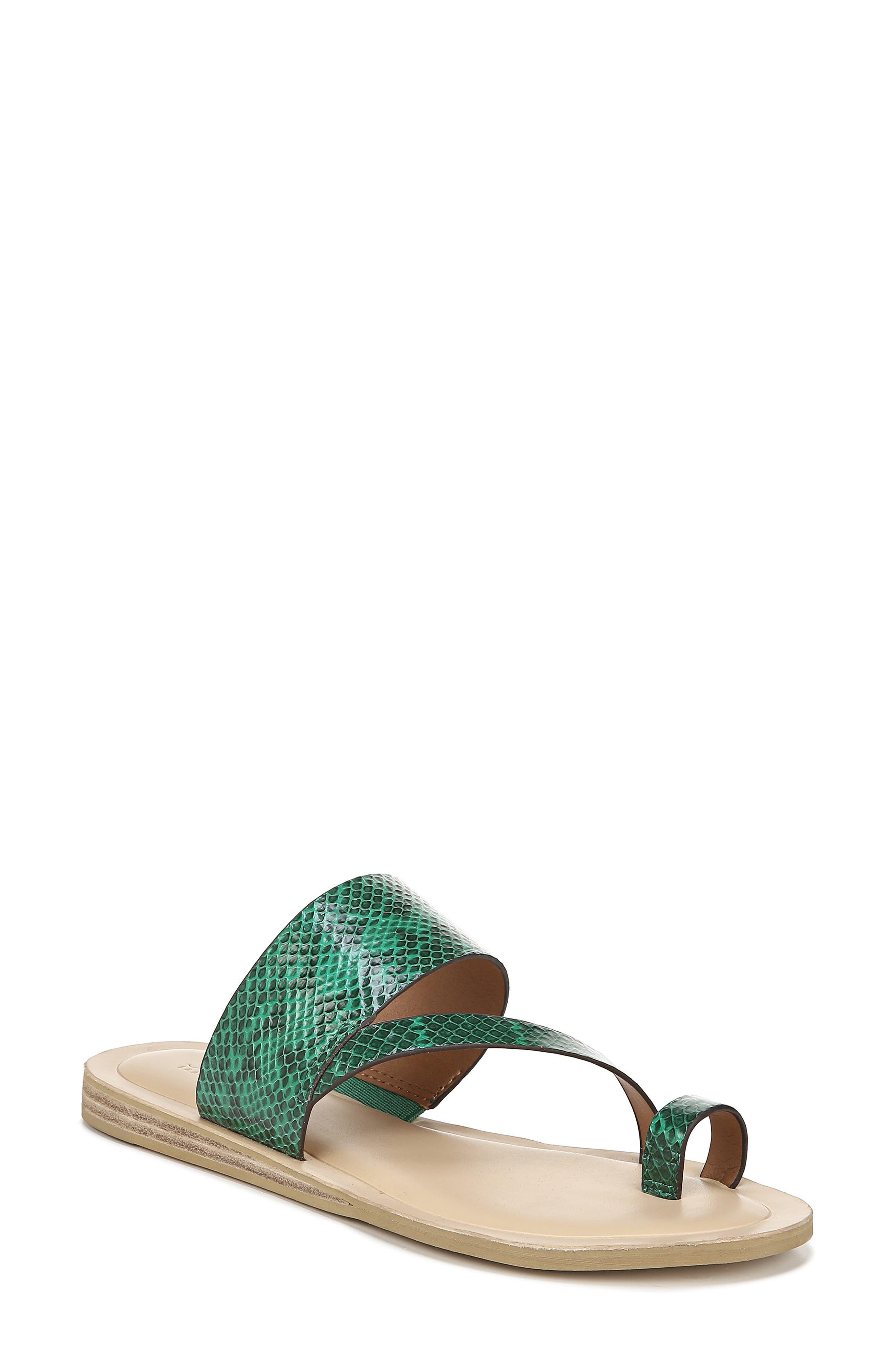 Sarto By Franco Sarto Leila Toe Loop Sandal, Green