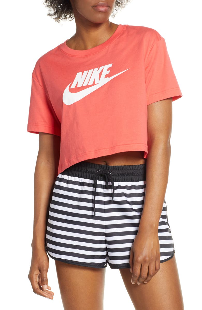 NIKE Sportswear Essential Crop Tee, Main, color, 005