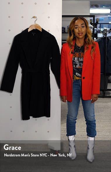 Notch Collar Wool & Cashmere Coat, sales video thumbnail