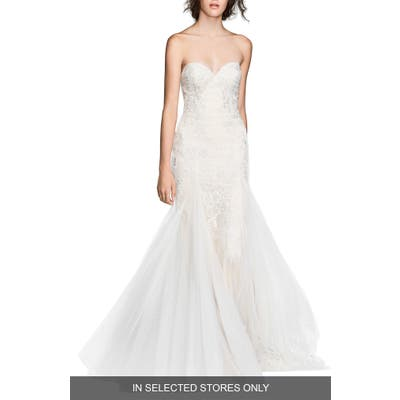 Willowby Lian Strapless Mermaid Gown, Size IN STORE ONLY - Ivory