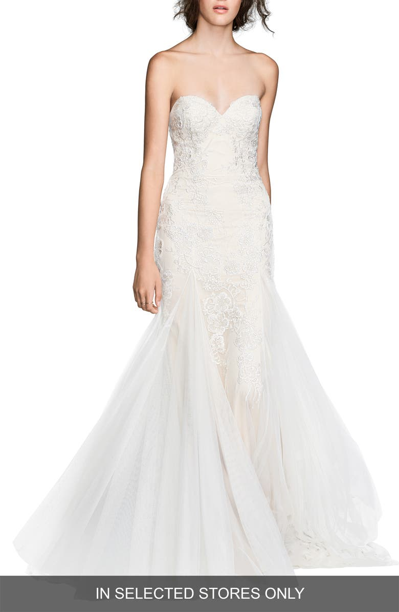 WILLOWBY Lian Strapless Mermaid Gown, Main, color, 900
