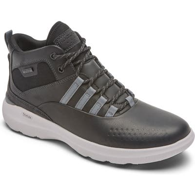 Rockport Truflex Hybrid High Waterproof Sneaker, Black