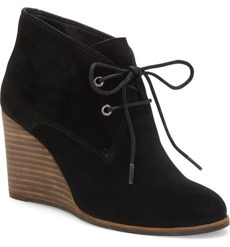 LUCKY BRAND Shijo Bootie, Main, color, BLACK SUEDE
