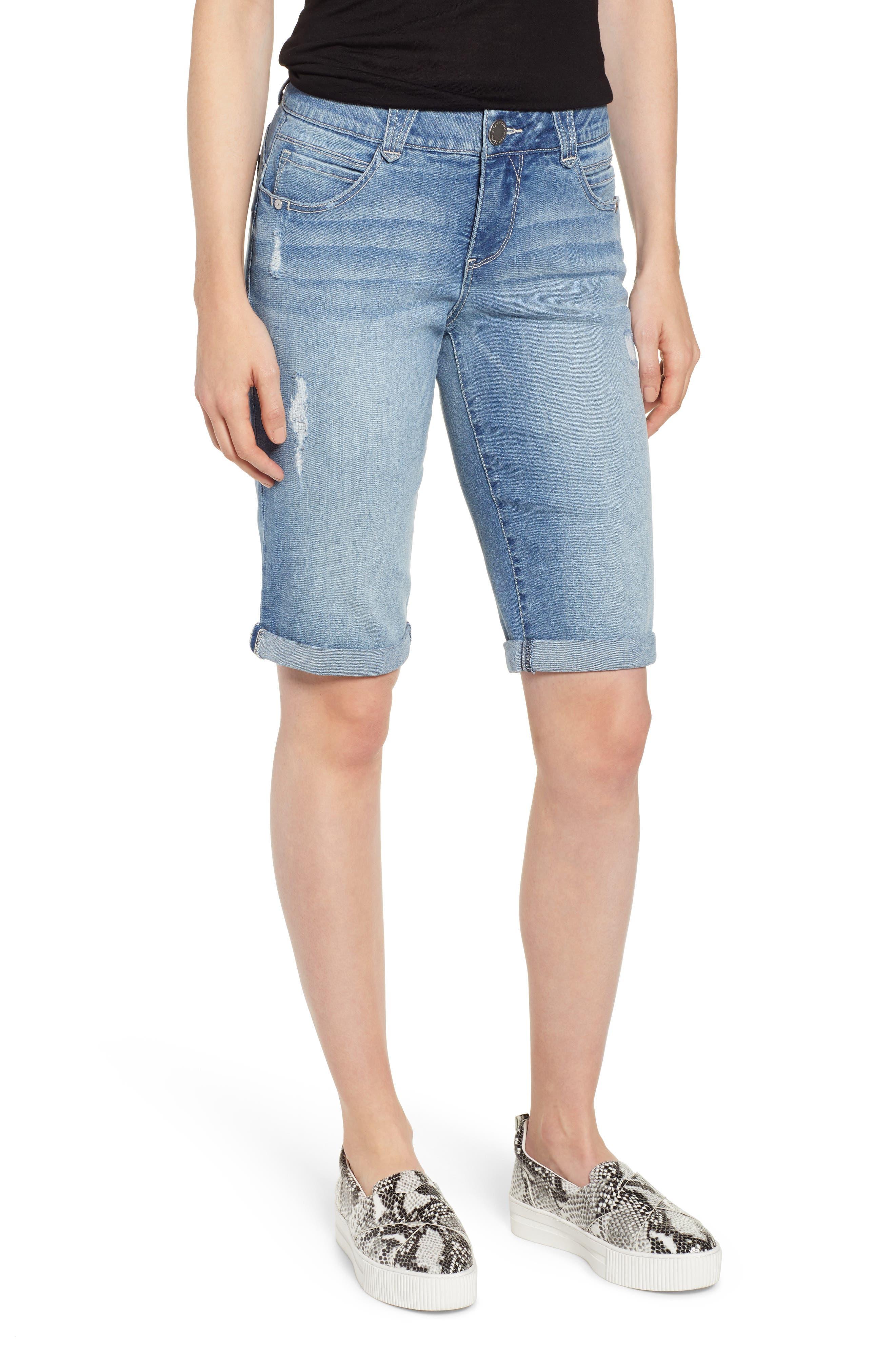 Women's Wit & Wisdom Ab-Solution Roll Cuffed Jean Shorts