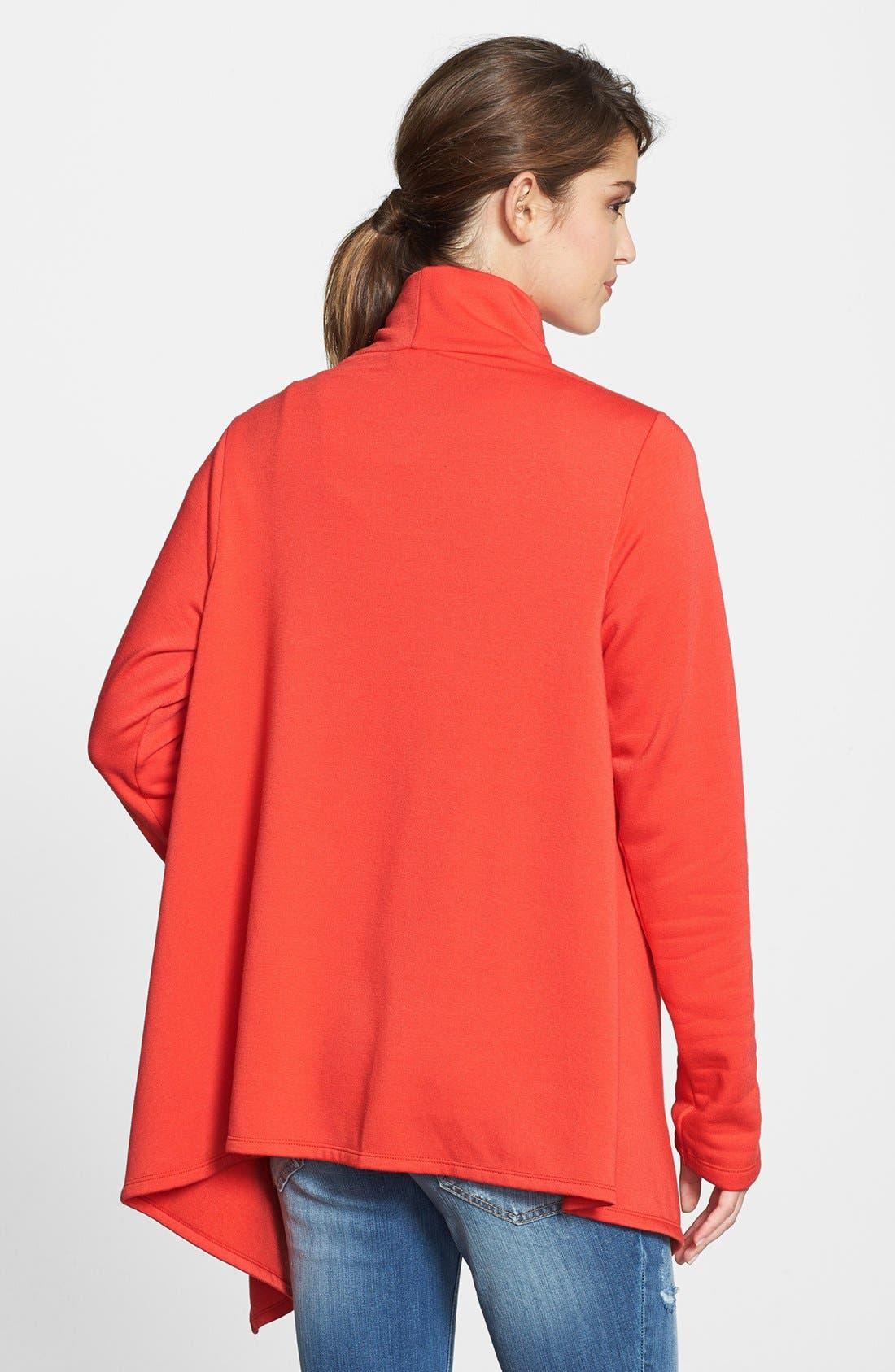 ,                             One-Button Fleece Wrap Cardigan,                             Main thumbnail 228, color,                             806