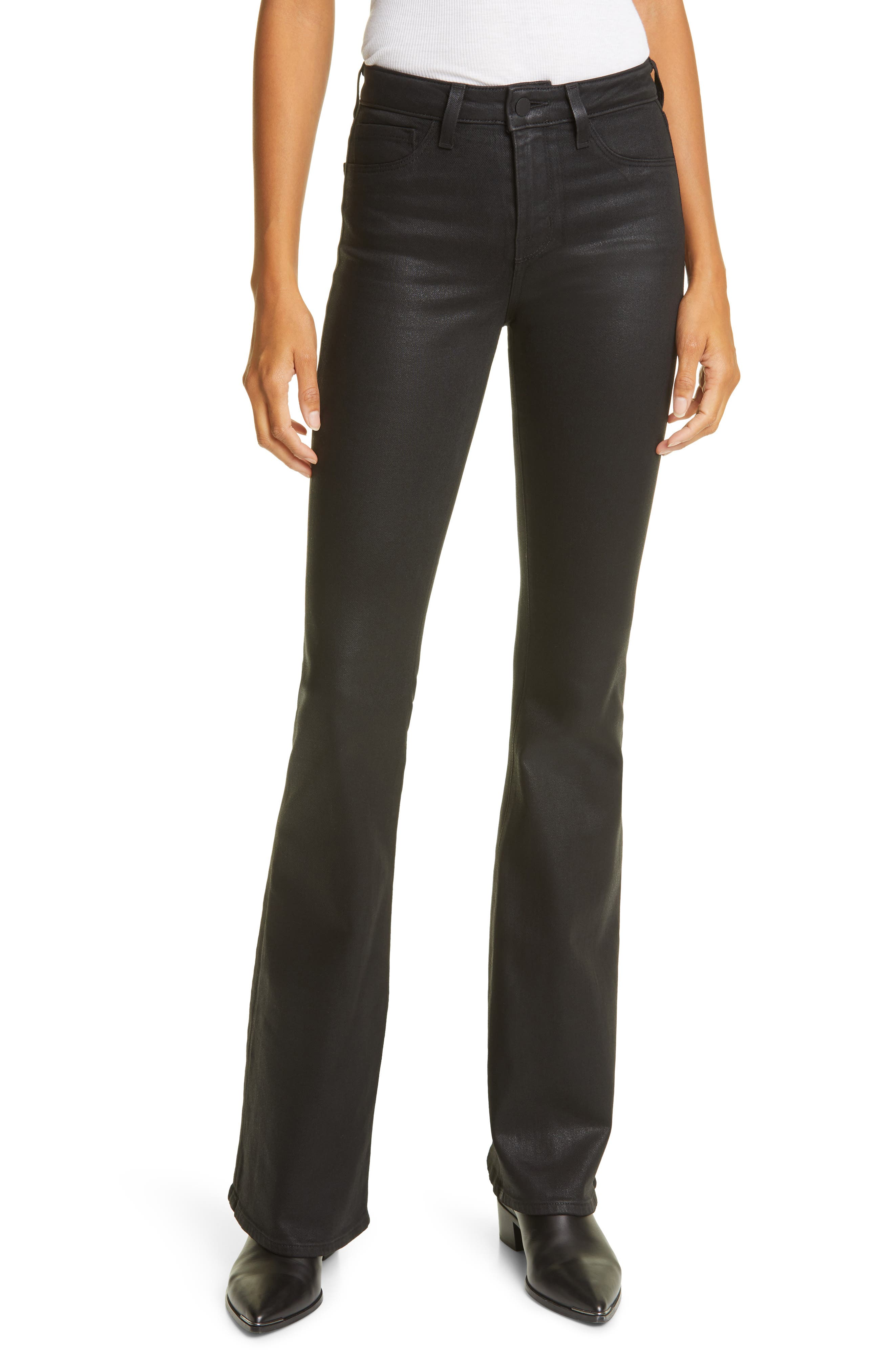 Women's L'Agence Bell Coated Flare Jeans