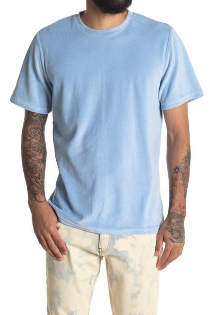 Image of OVADIA AND SONS Velour Crew Neck T-Shirt