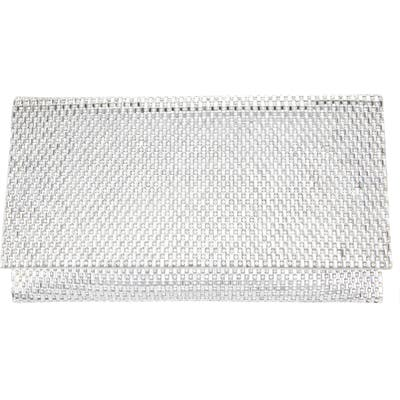 Nina Crystal Beaded Clutch - Metallic