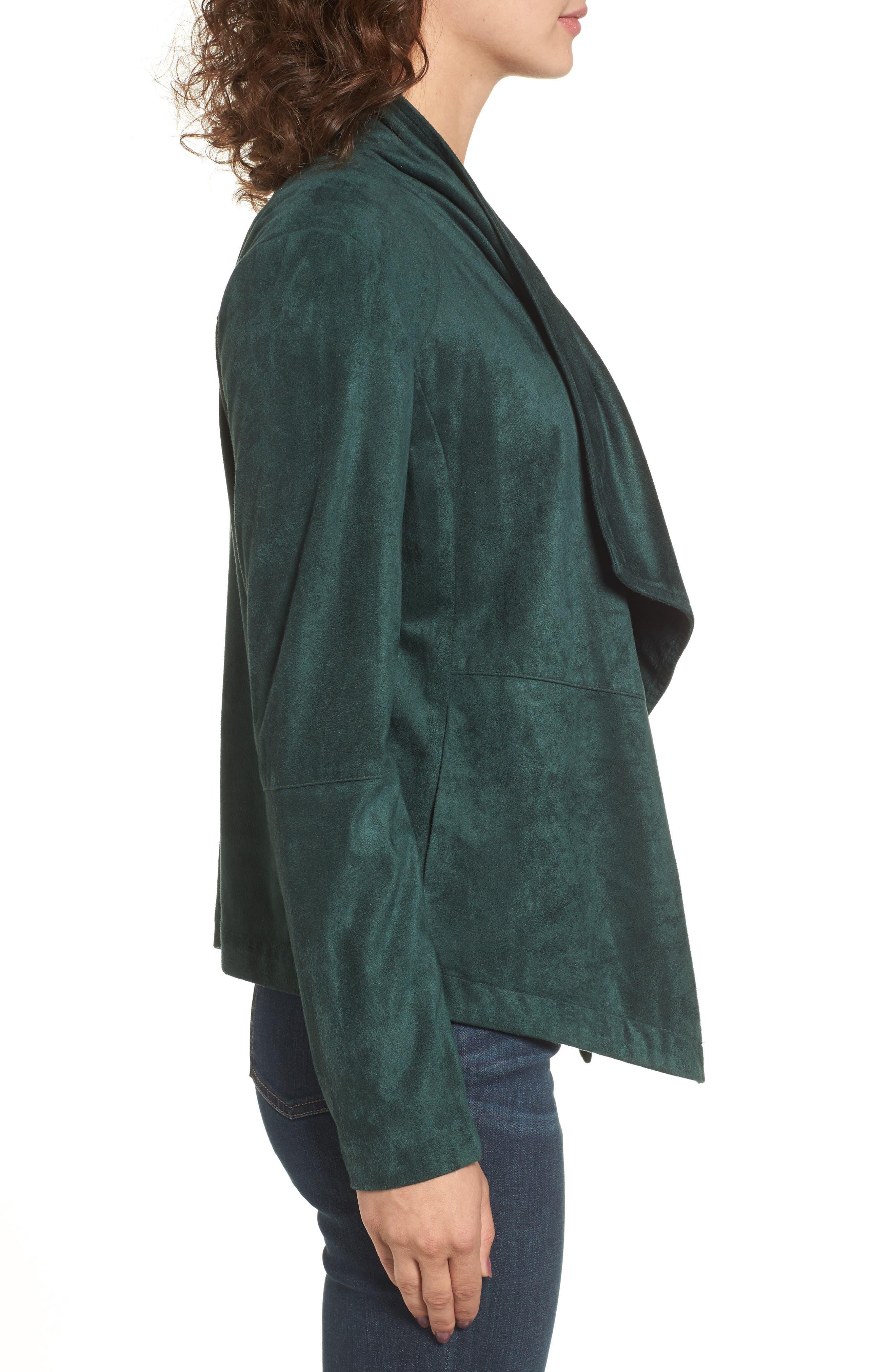 ,                             Nicholson Faux Suede Drape Front Jacket,                             Alternate thumbnail 42, color,                             301