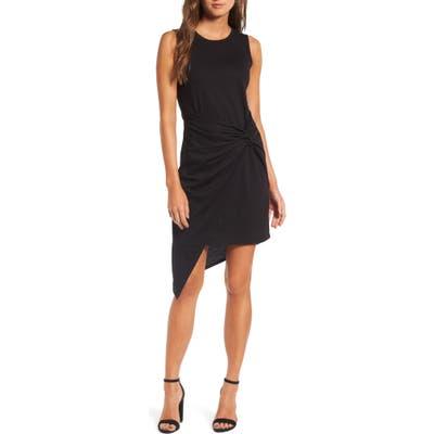 Chelsea28 Twist Front Dress, Black
