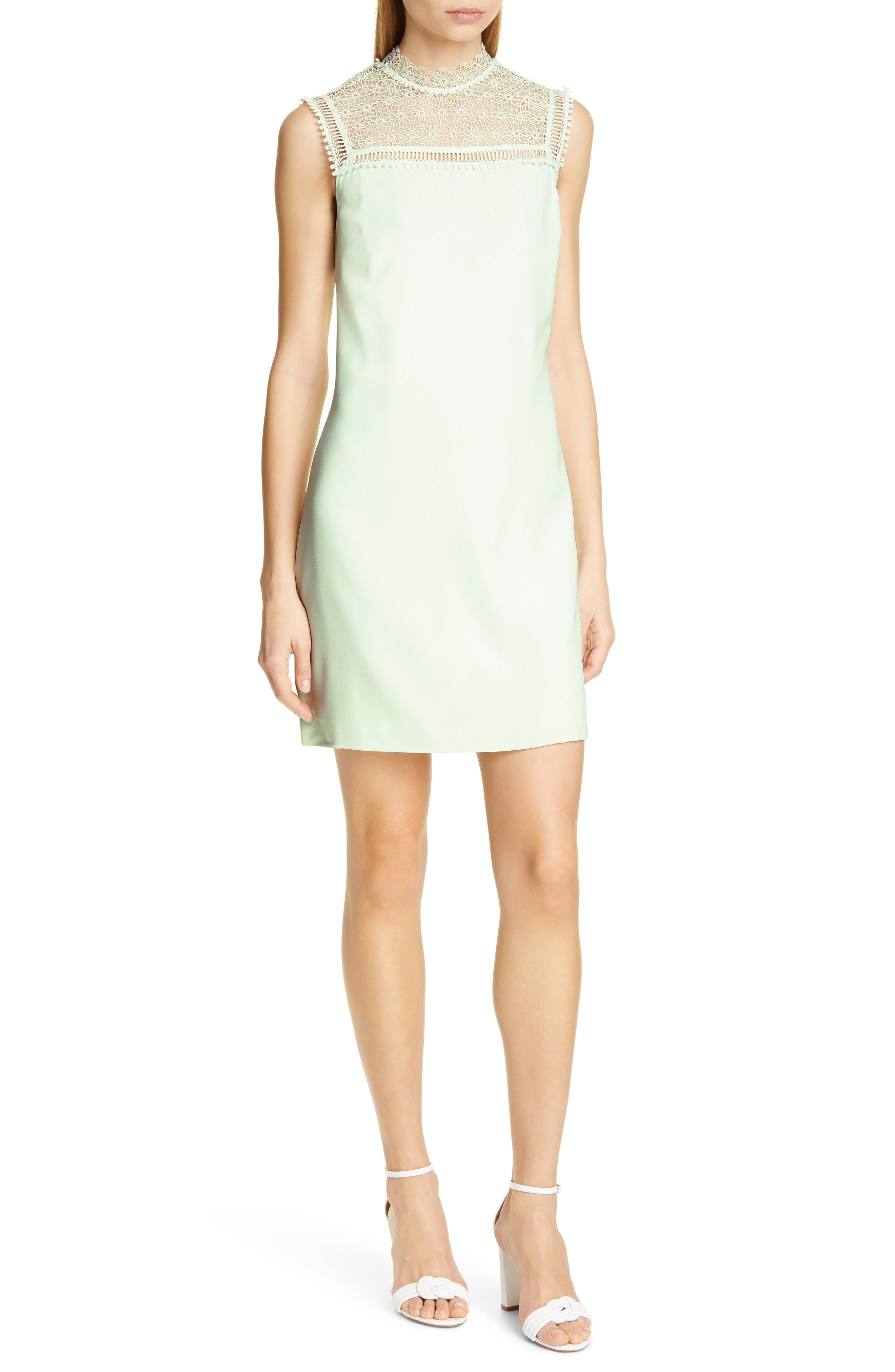 Ted Baker London Carsey Crocheted Lace Yoke Shift Dress