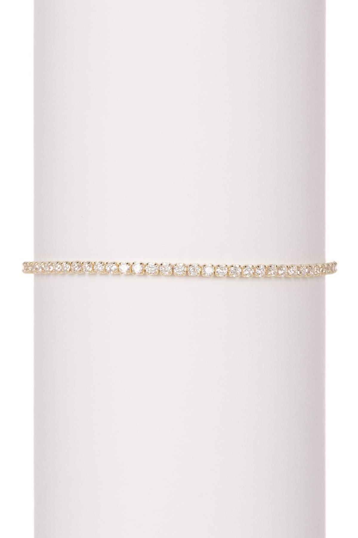 Image of Savvy Cie 18K Gold Vermeil CZ Pull Tennis Bracelet