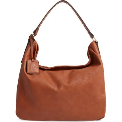 Steve Madden Pebbled Leather Convertible Hobo - Brown