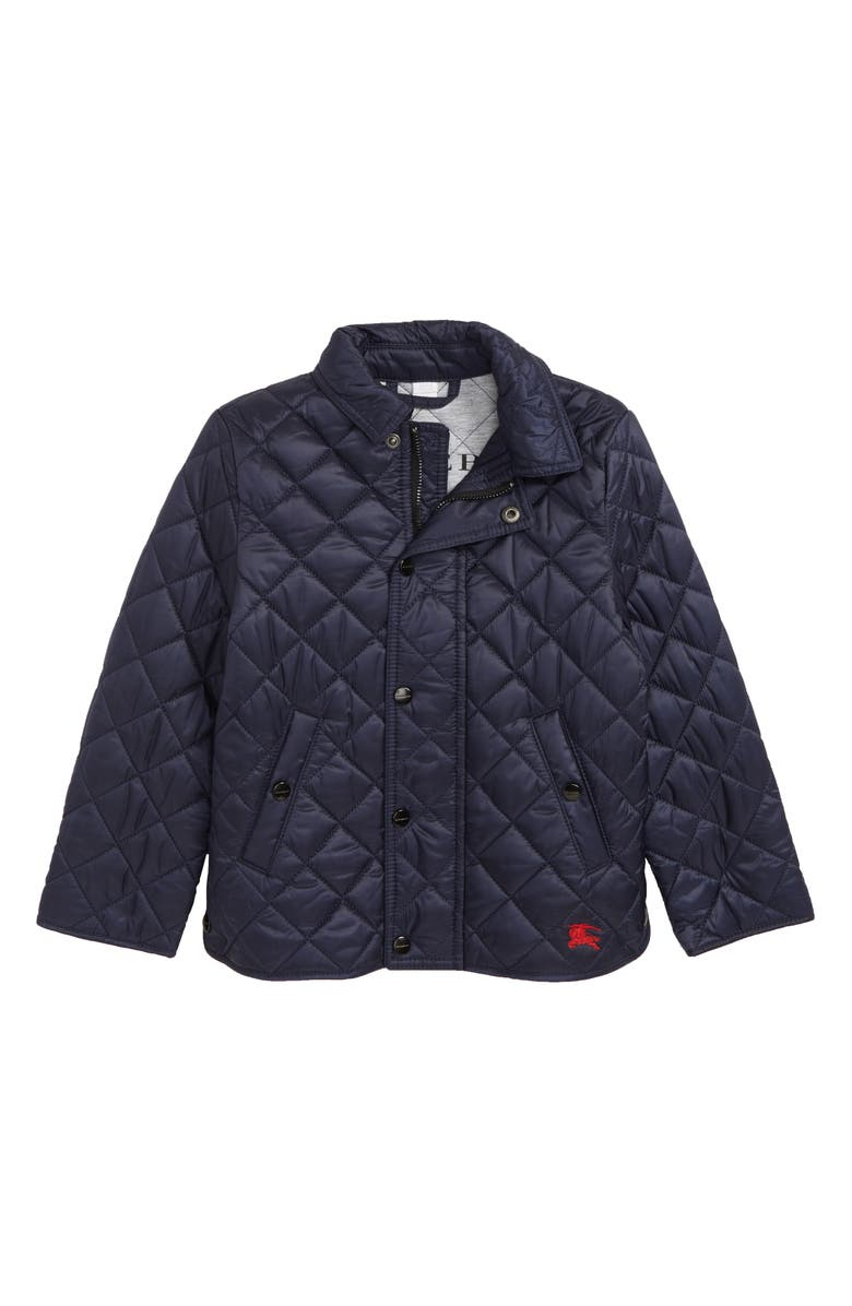 BURBERRY Mini Lyle Diamond Quilted Jacket, Main, color, 400