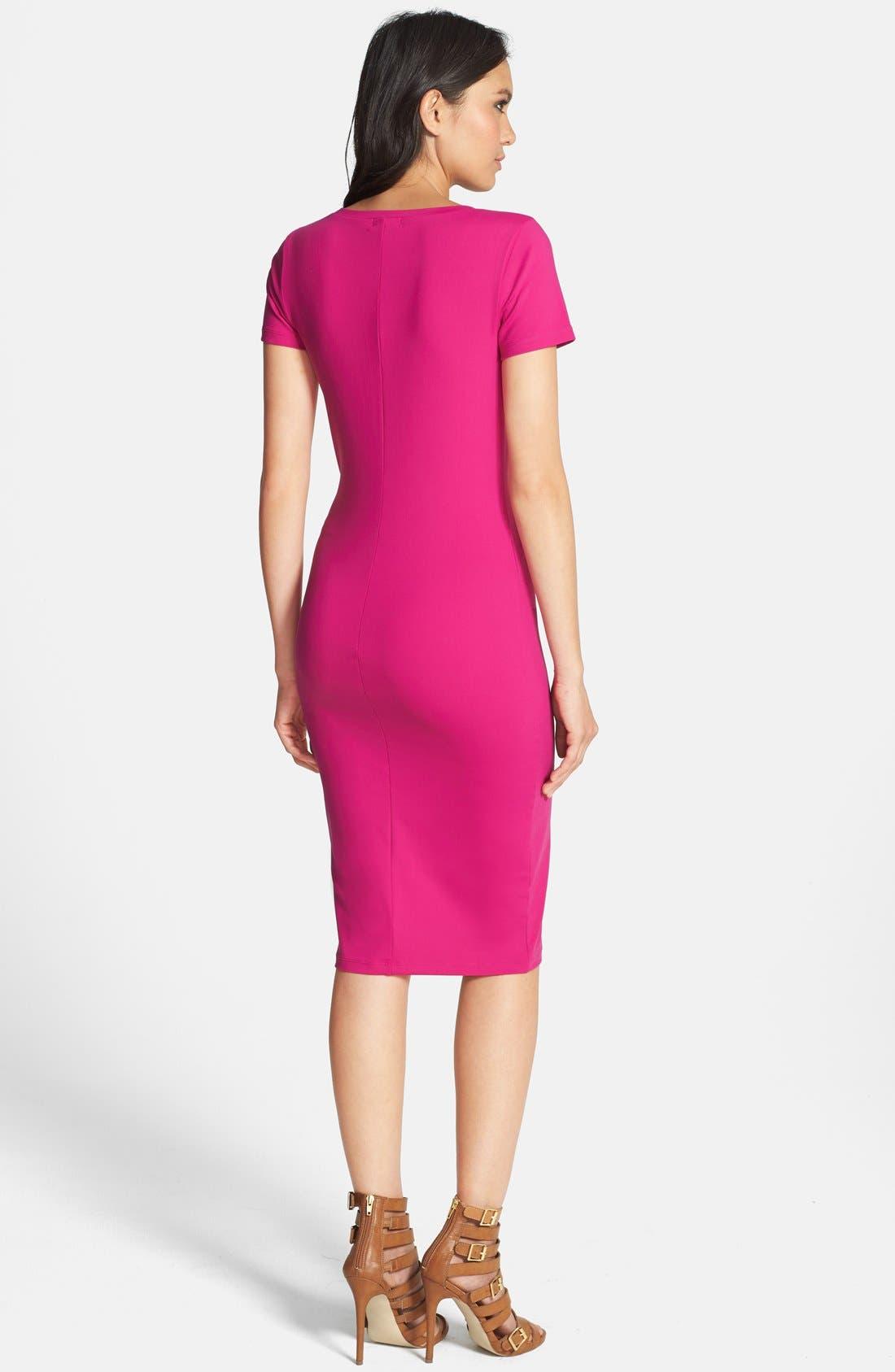 ,                             V-Neck Body-Con Dress,                             Alternate thumbnail 38, color,                             651