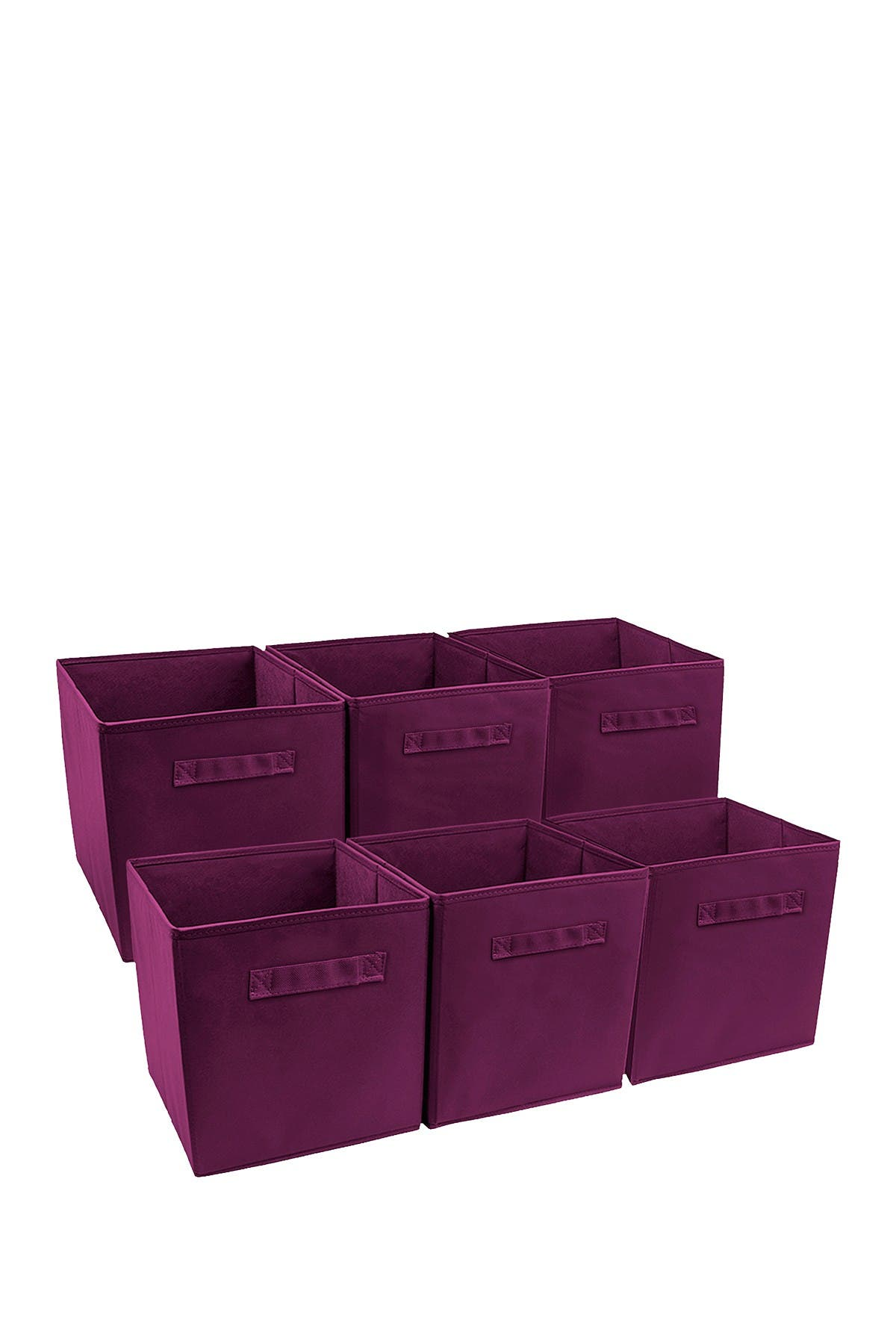 Image of Sorbus Purple Foldable Storage Cube Basket Bin - Pack of 6