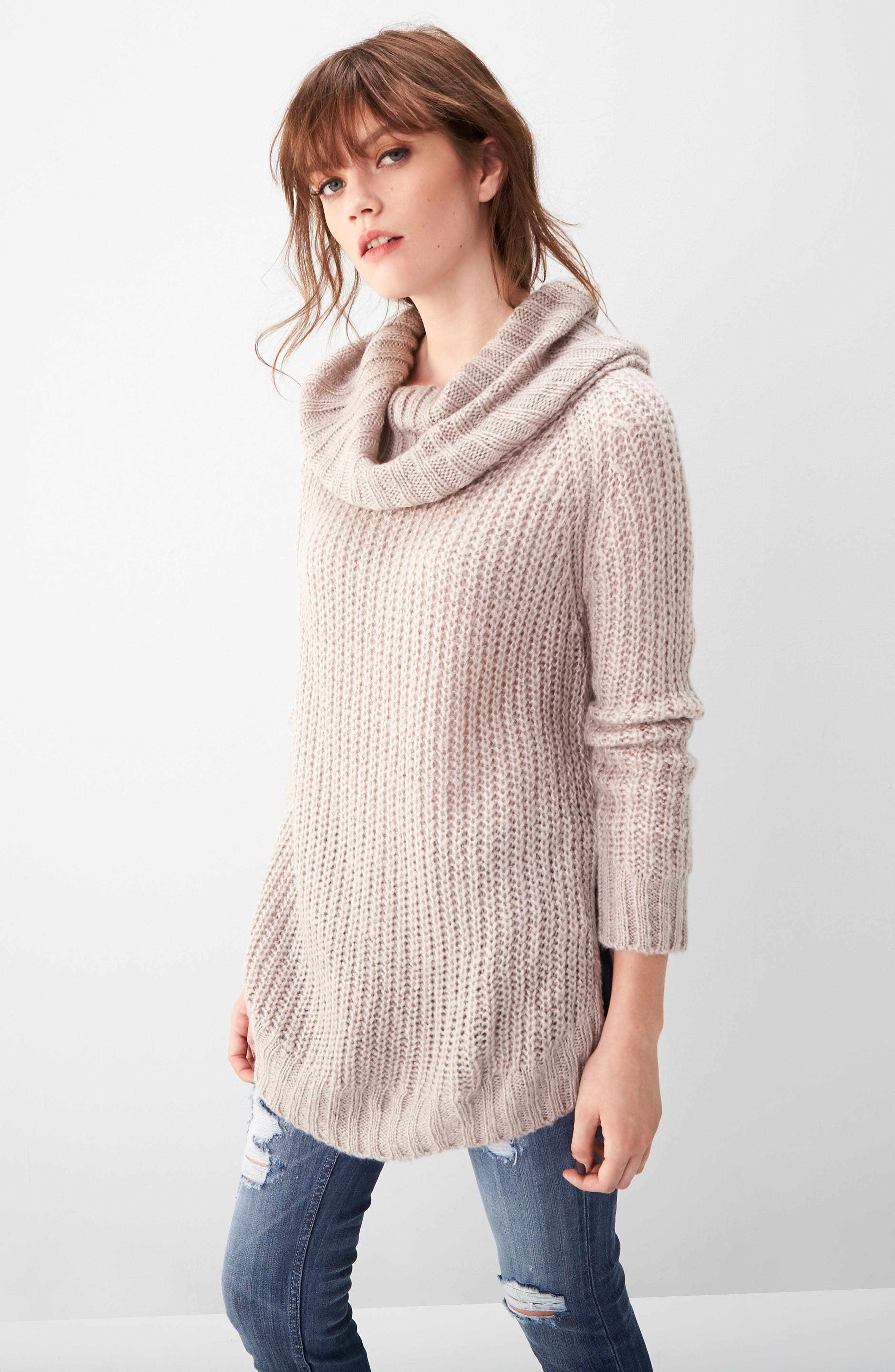 ,                             Cowl Neck Sweater,                             Alternate thumbnail 11, color,                             200