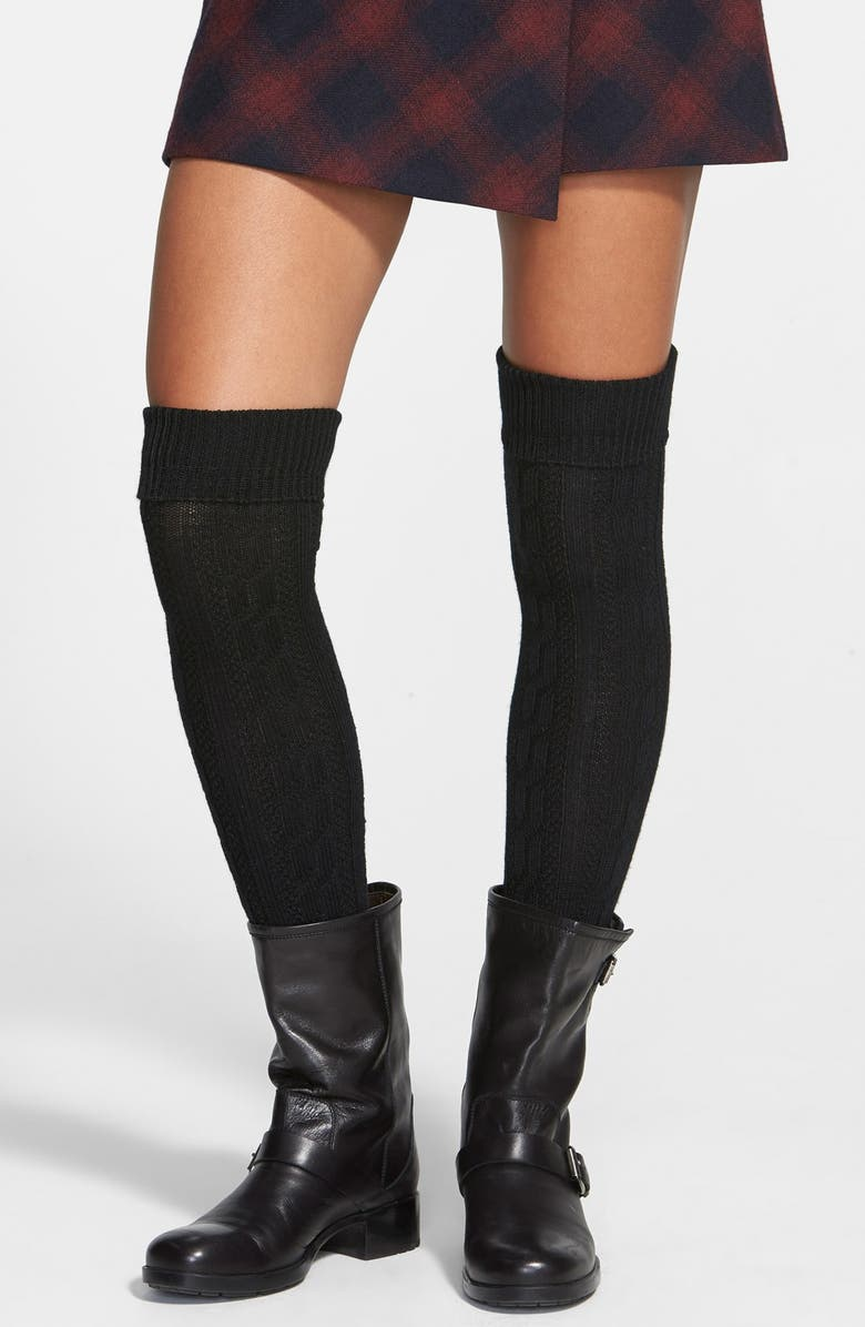 2b6068890 Chunky Cable Knit Over the Knee Socks, Main, color, 001