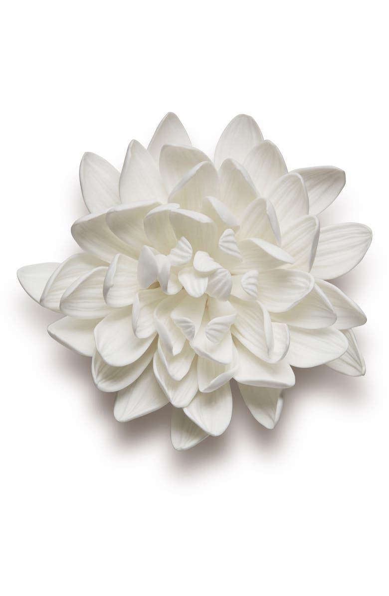 AERIN Porcelain Dahlia, Main, color, WHITE