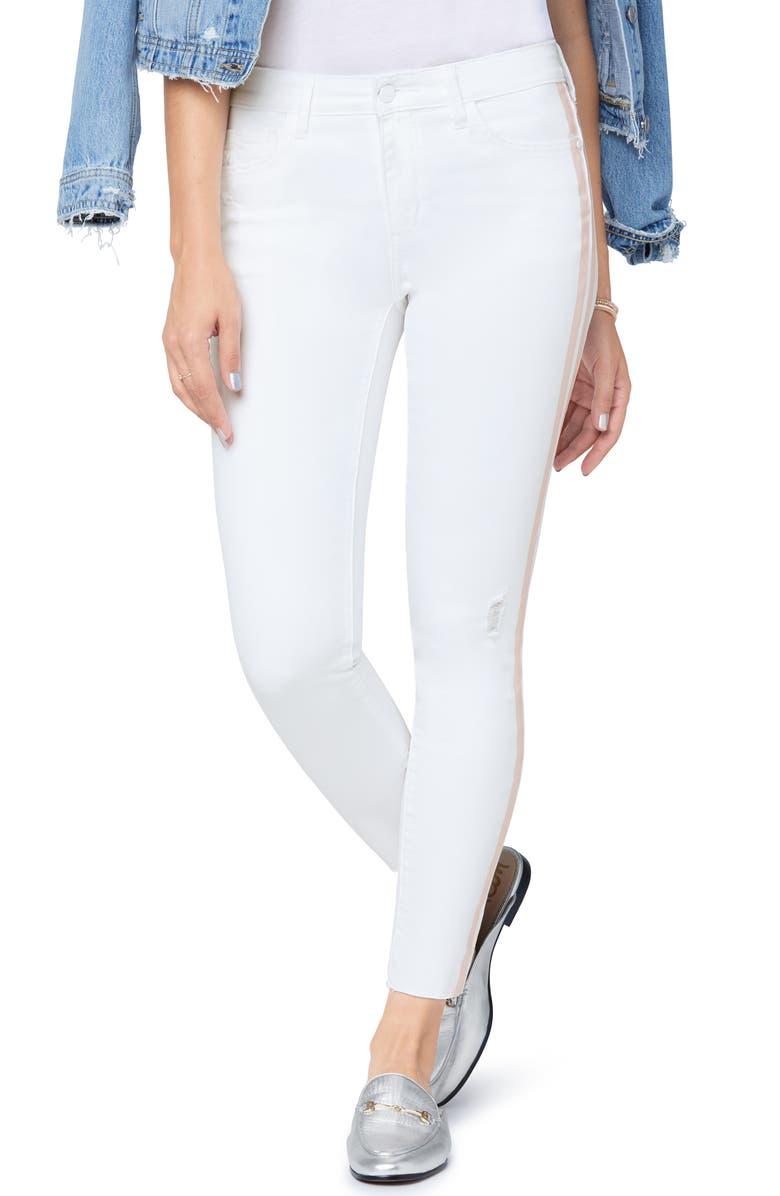 SAM EDELMAN The Kitten Side Stripe Frayed Ankle Skinny Jeans, Main, color, 107