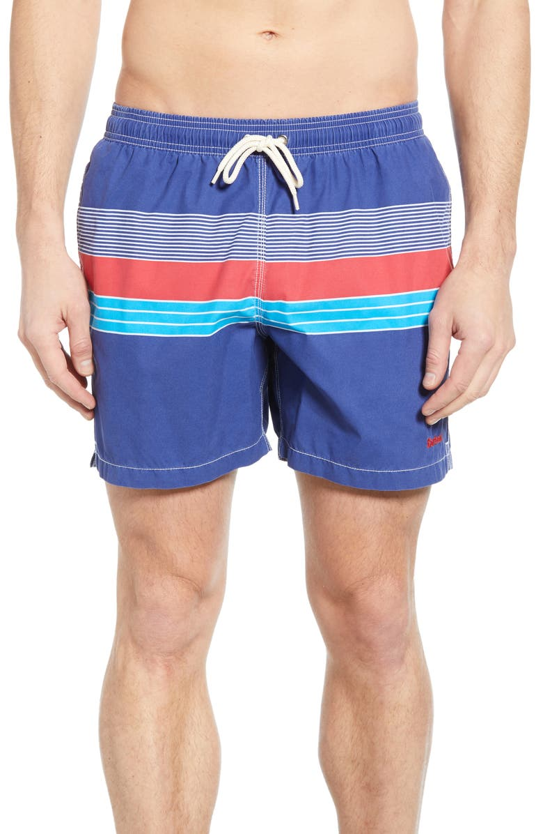 BARBOUR Rydal Swim Trunks, Main, color, RED