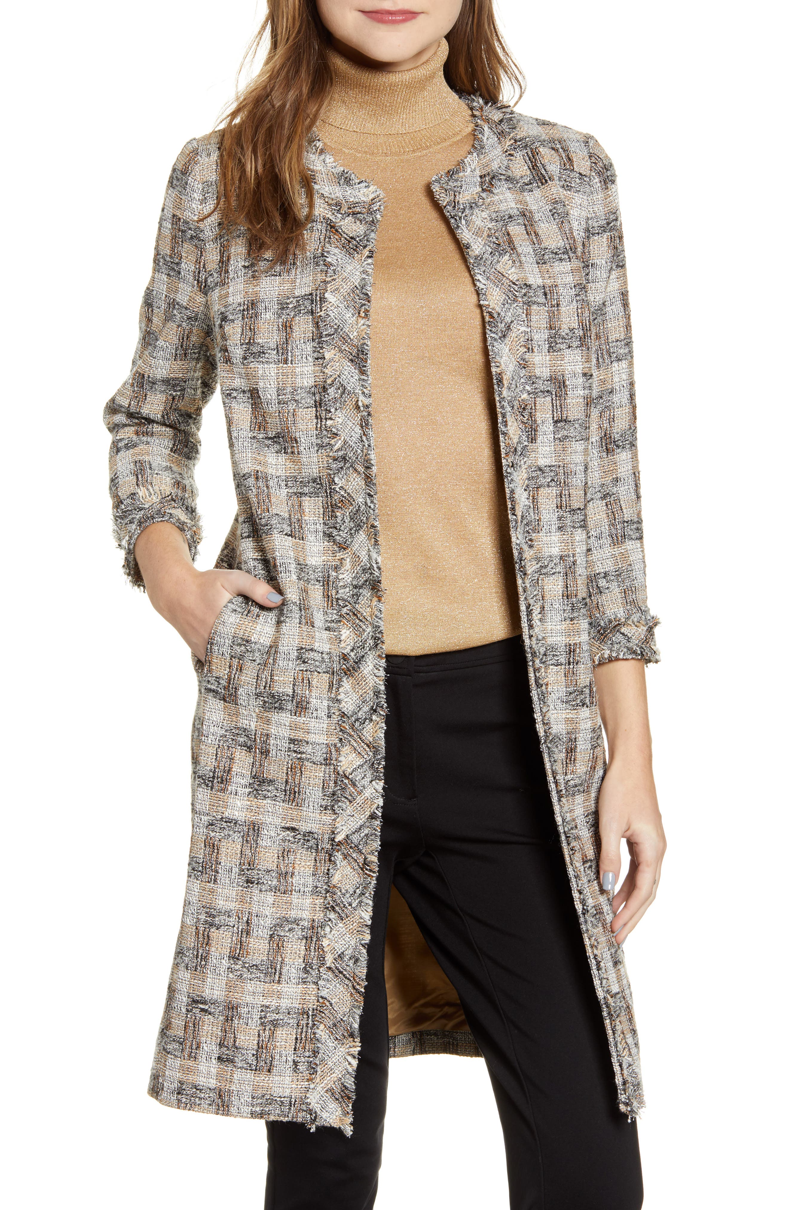 Plaid Topper Coat