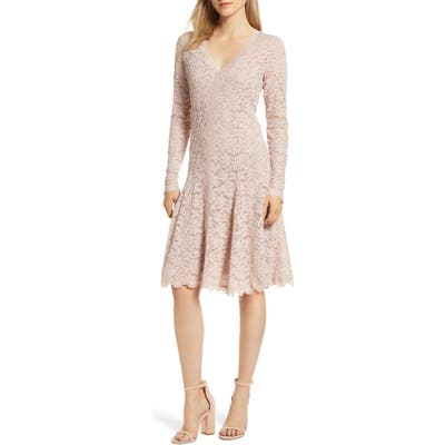 Rosemunde Delicia Fit & Flare Lace Dress, Ivory