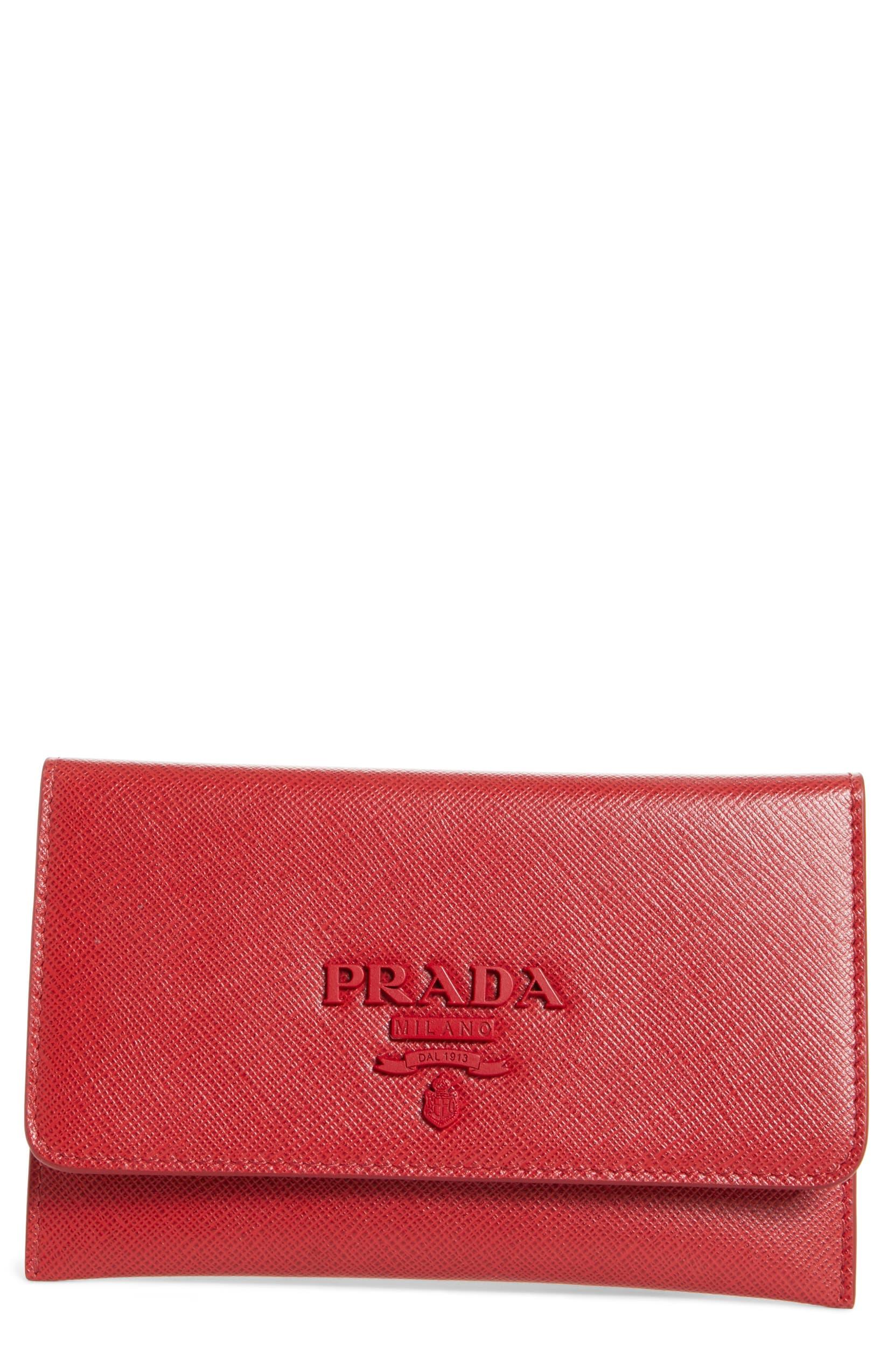 92a02b8f62212e Prada Saffiano Leather Wallet | Nordstrom