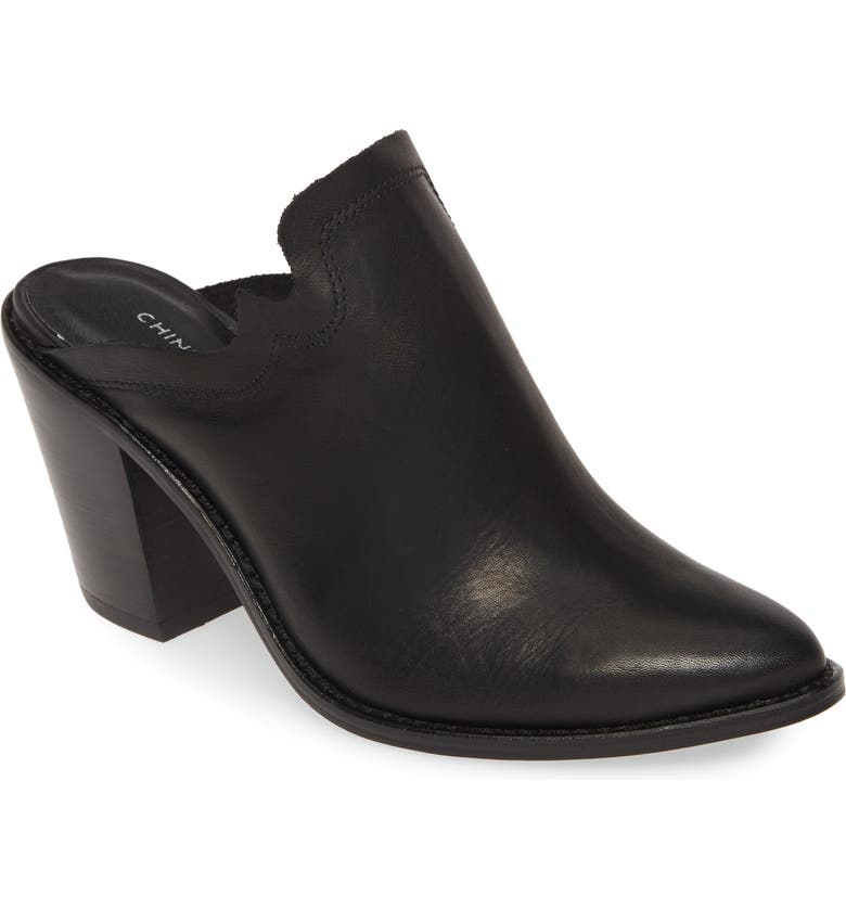 CHINESE LAUNDRY Songstress Mule, Main, color, BLACK LEATHER