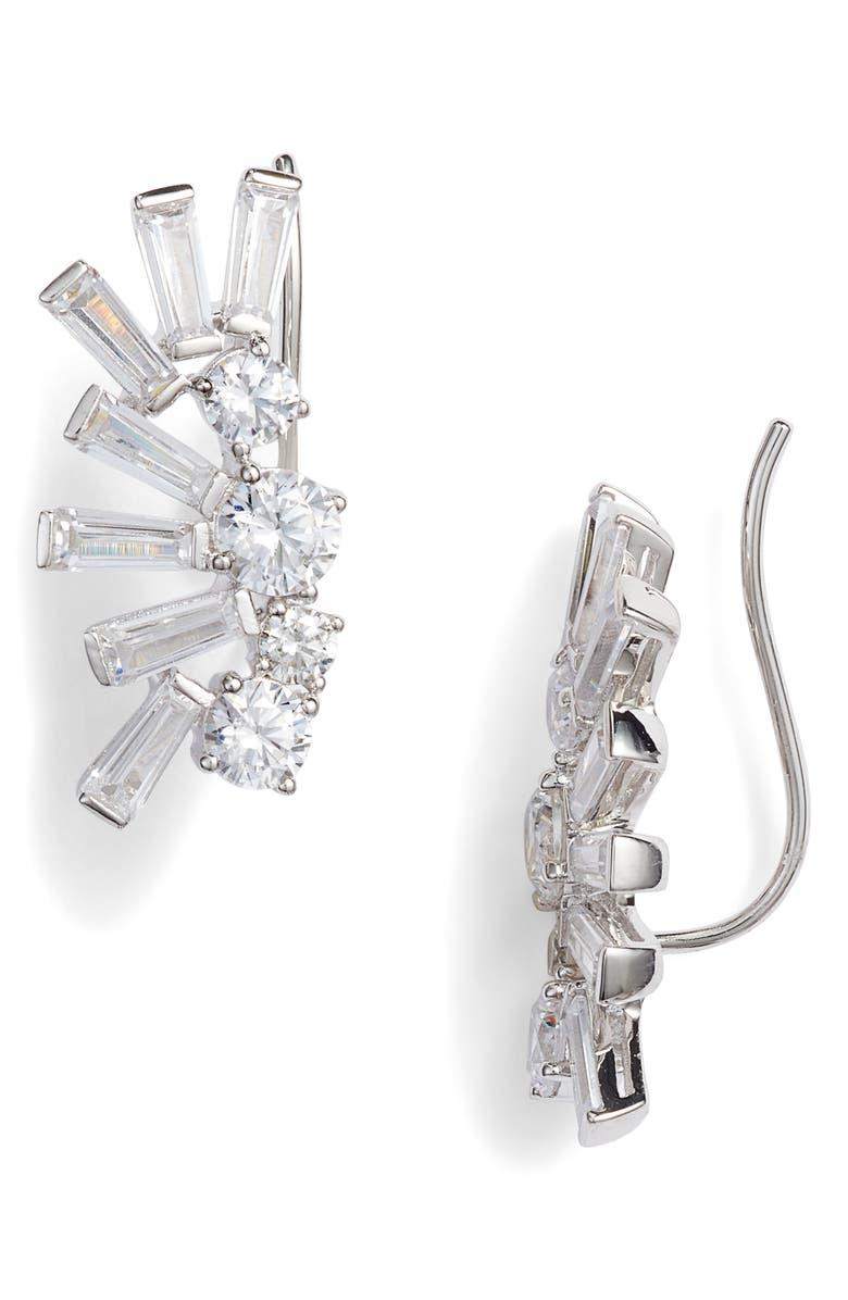 Bouquet Fringe Ear Crawlers by Nadri