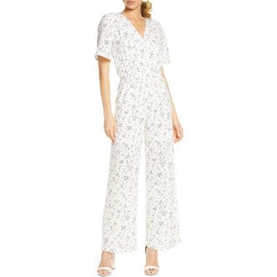 Fraiche By J Sido Wide Leg Jumpsuit, White