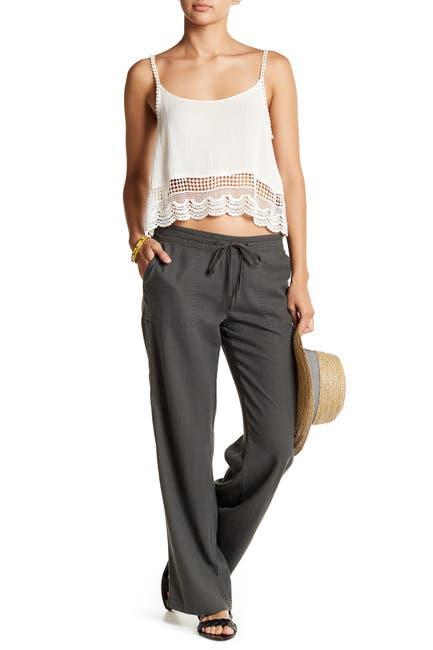 Image of SUSINA Linen Blend Drawstring Pants