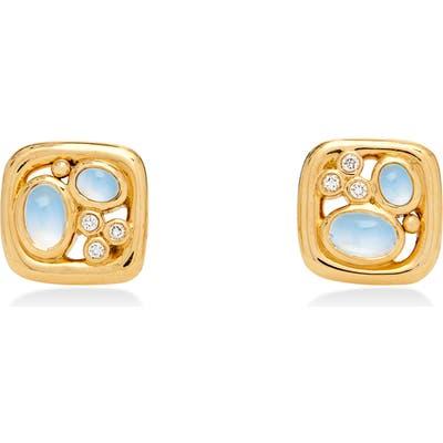 Temple St. Clair Isola Moonstone & Diamond Earrings