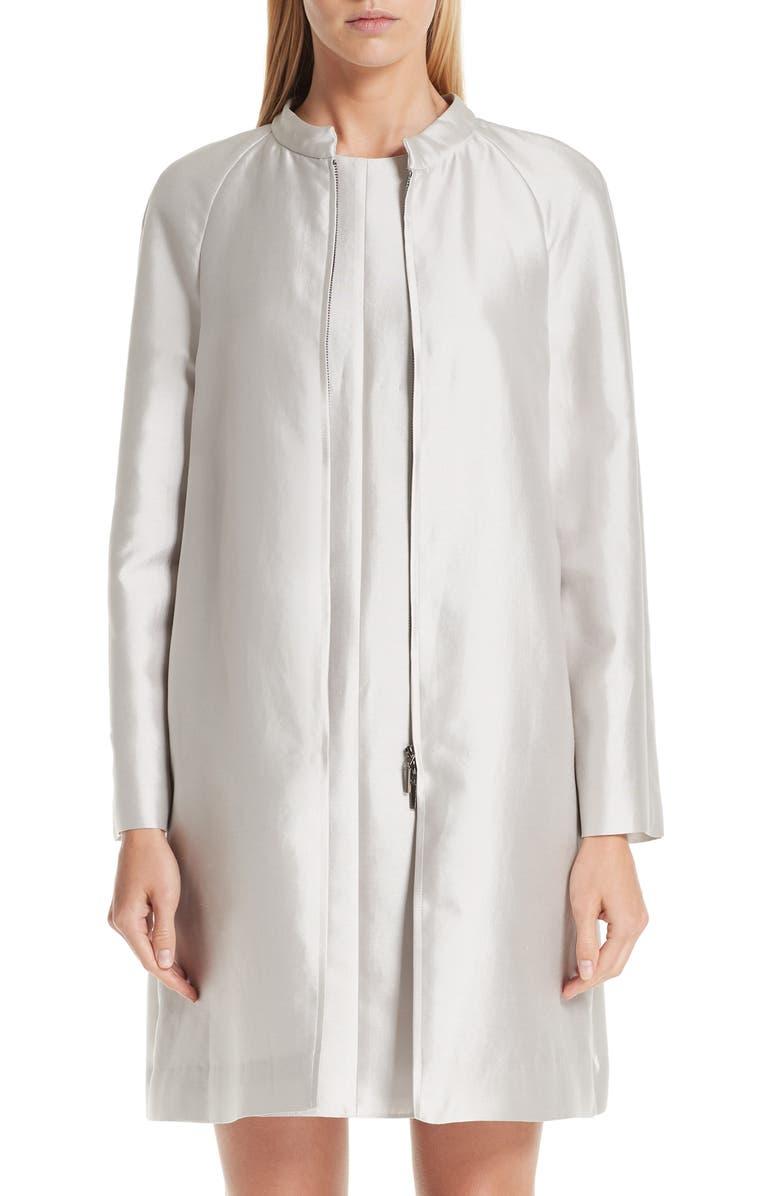 EMPORIO ARMANI Cotton & Silk Topper, Main, color, 250