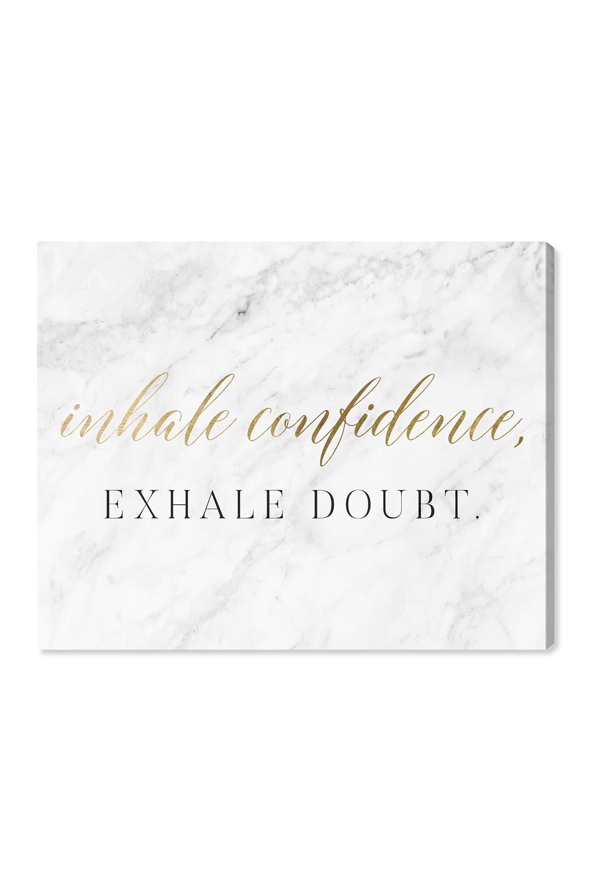 Image of Wynwood Studio Inhale Confidence Marble Gold Wall Art