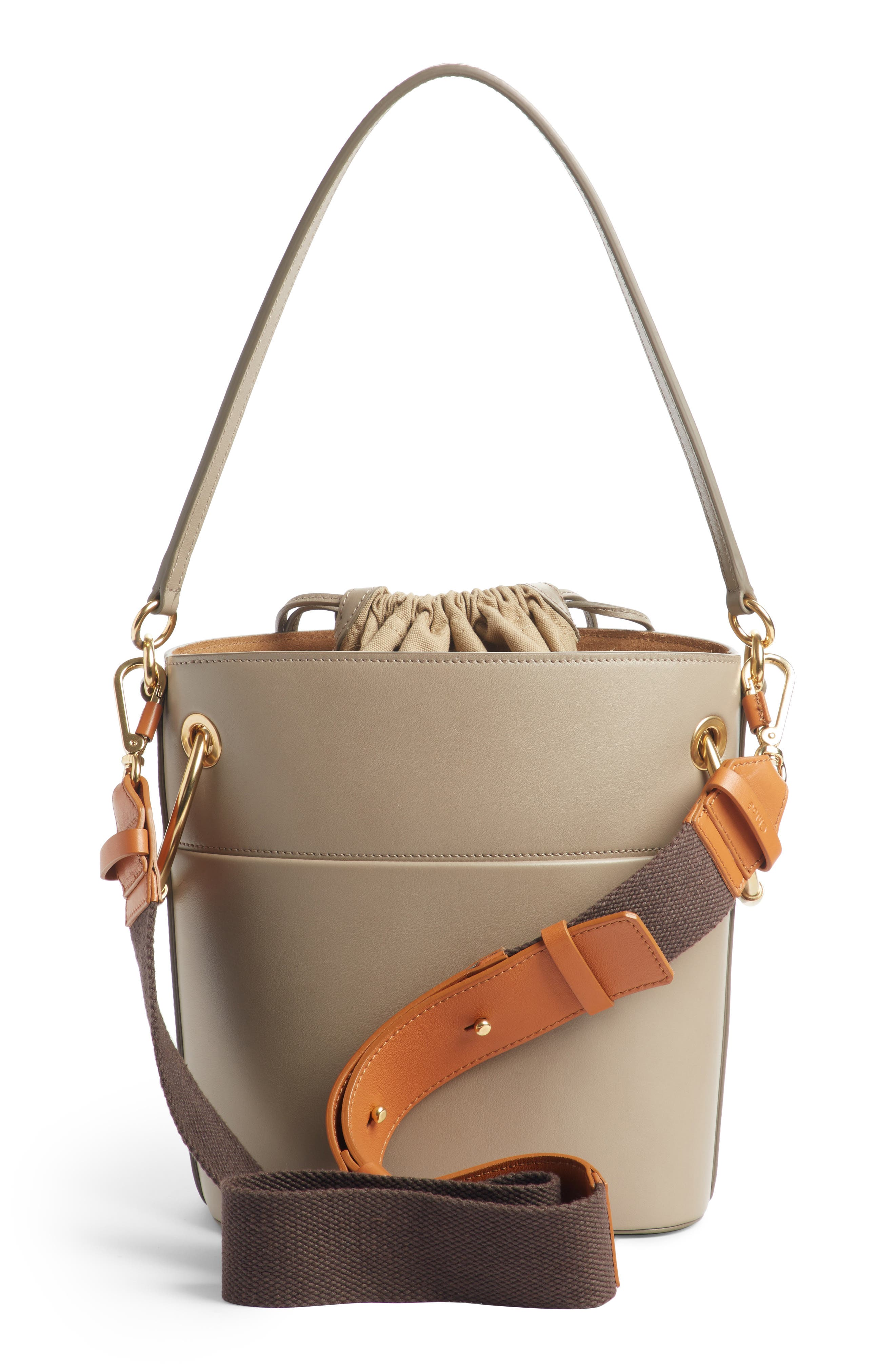 ,                             Roy Small Leather Bucket Bag,                             Alternate thumbnail 12, color,                             020