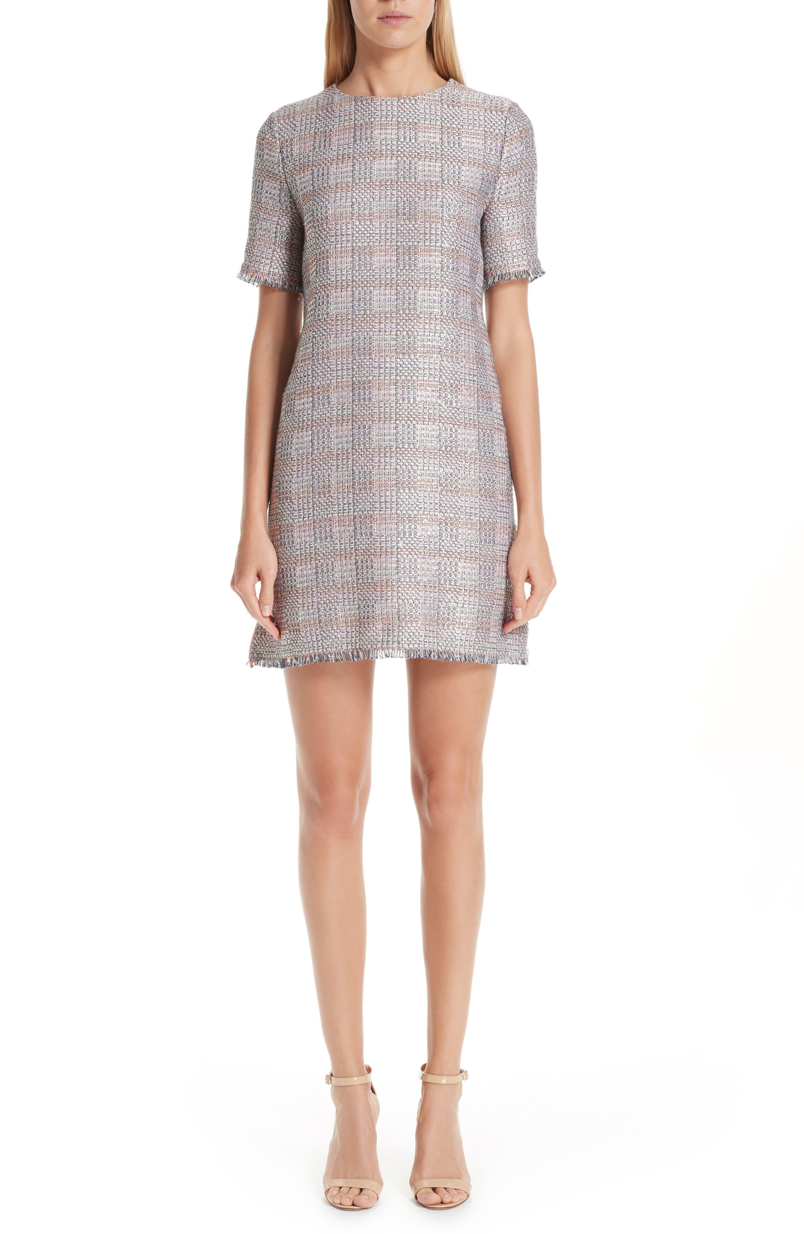 Emporio Armani Check Woven Dress, US / 44 IT - Grey