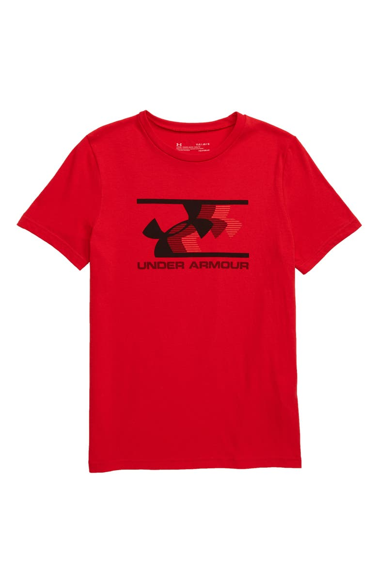 UNDER ARMOUR HeatGear<sup>®</sup> Action Fade Logo T-Shirt, Main, color, 600