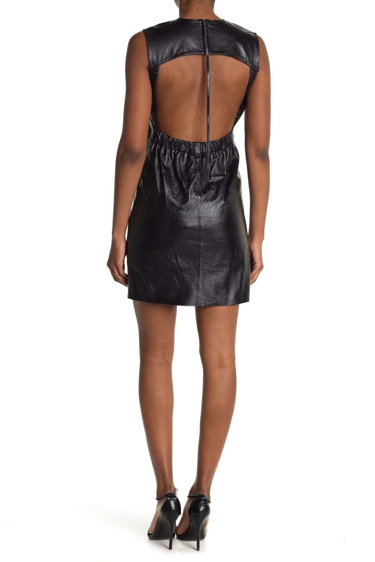 Helmut Lang Open Back Leather Dress