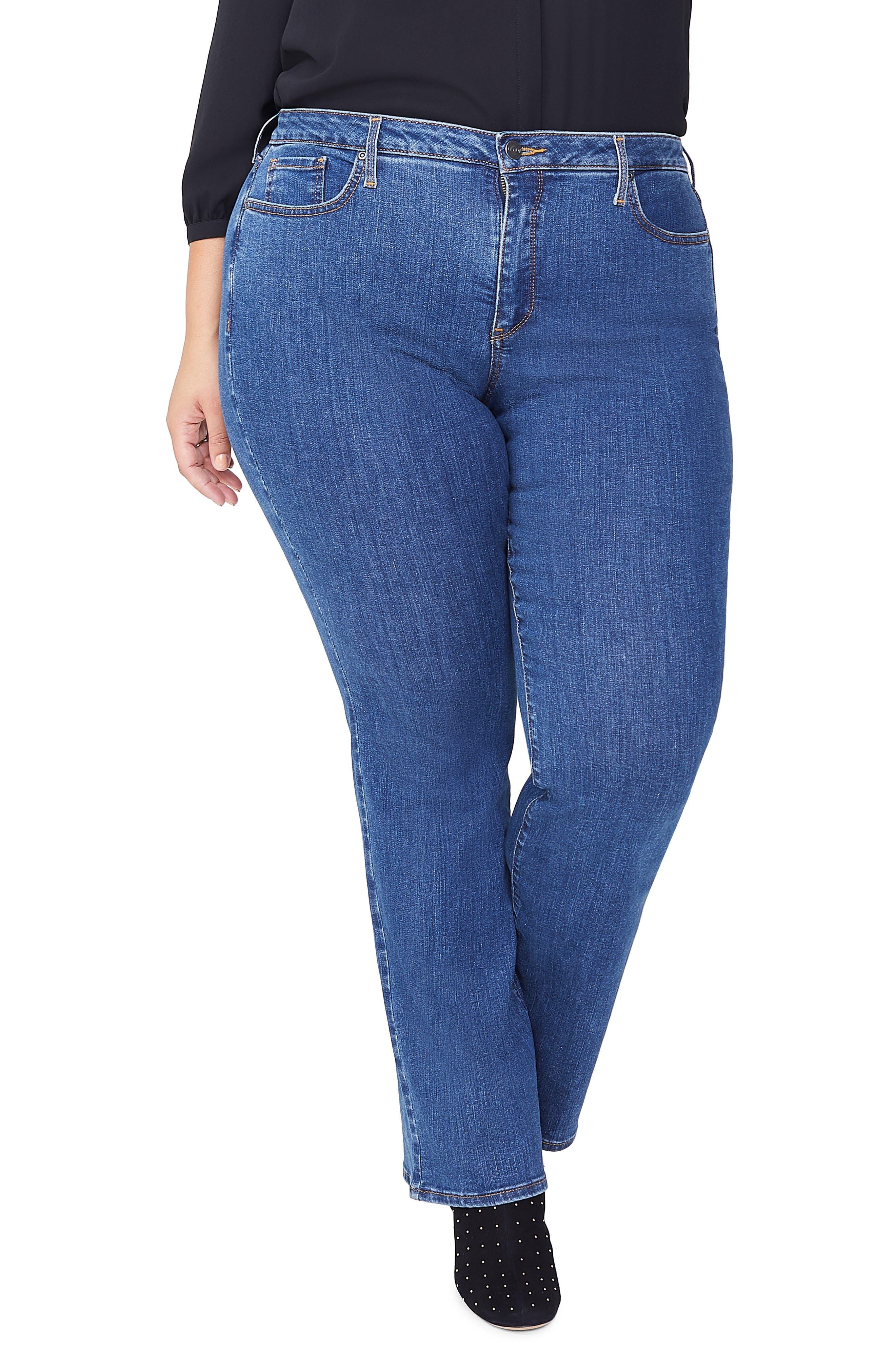 NYDJ Barbara High Waist Bootcut Jeans (Batik Blue) (Plus Size)