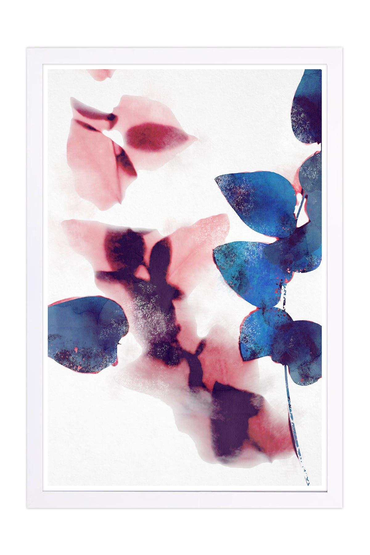 Image of Wynwood Studio Like Cyanotype Leaves Abstract Framed Wall Art