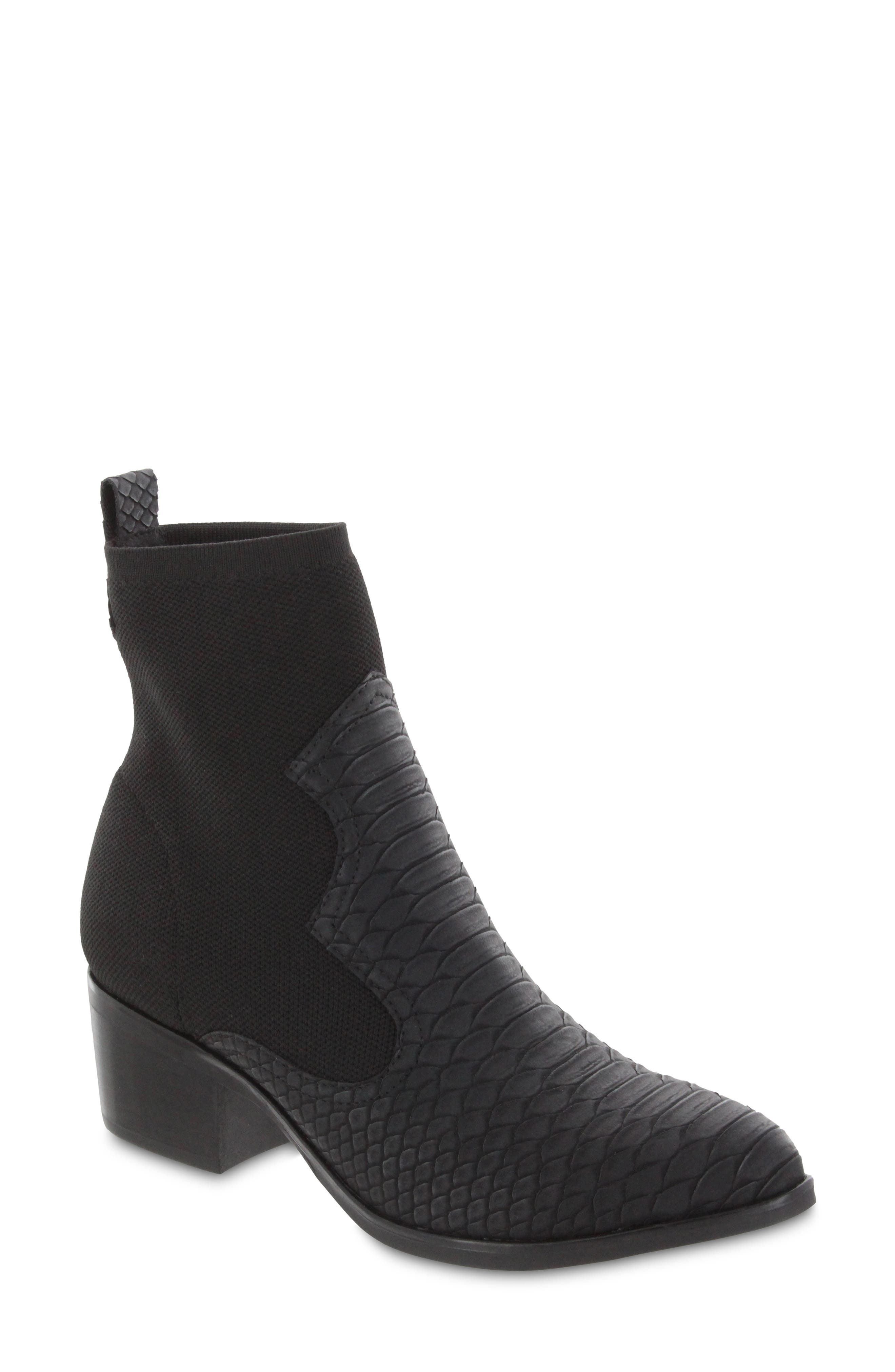 Nicky Snake Embossed Bootie