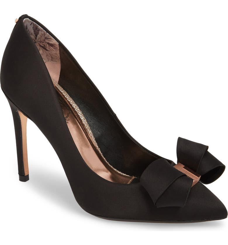 TED BAKER LONDON Skalett Pump, Main, color, BLACK SATIN