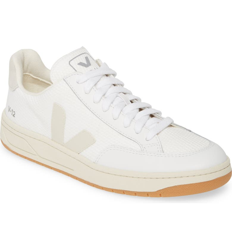VEJA V-12 Sneaker, Main, color, WHITE NATURAL