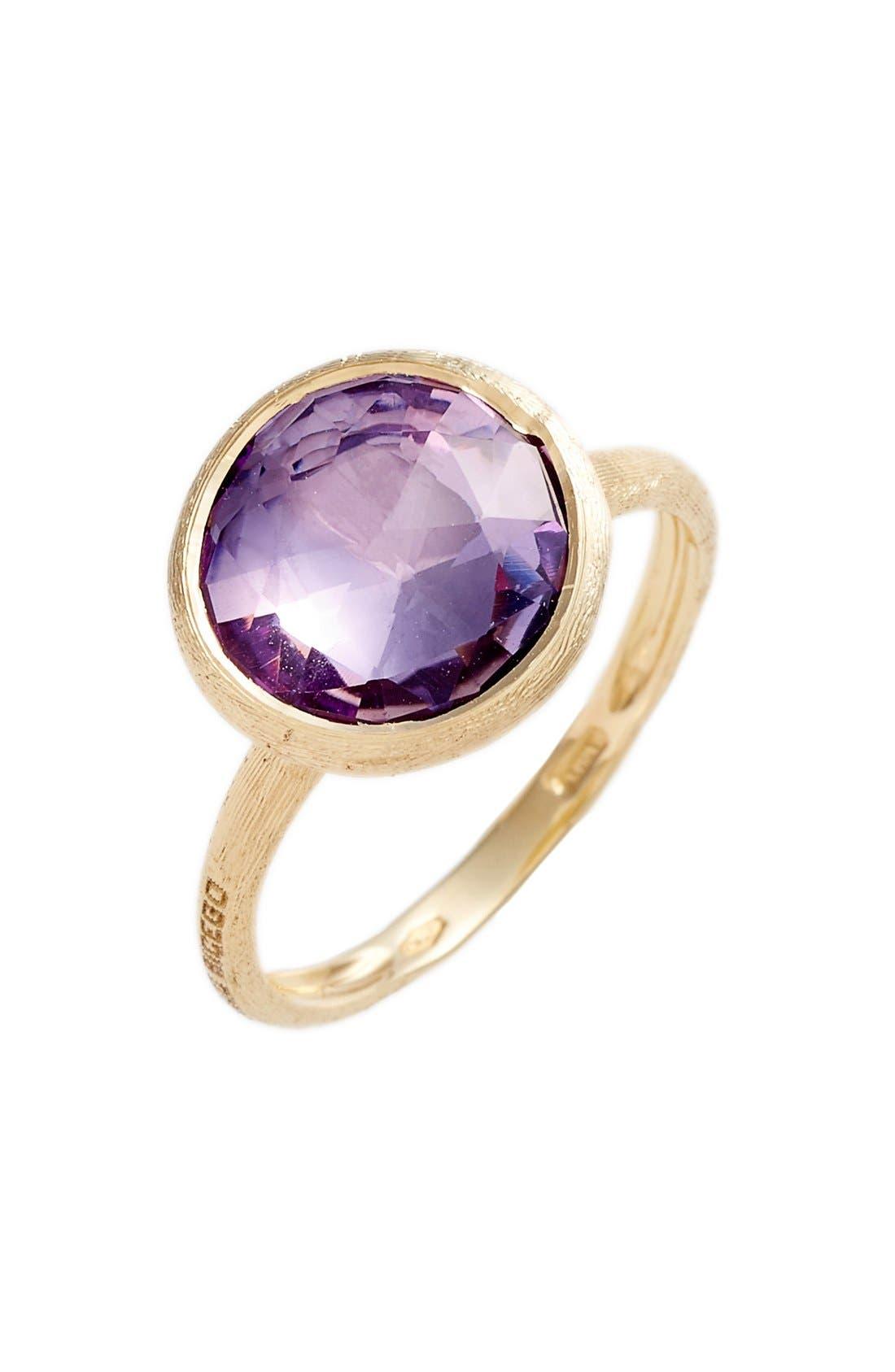 ,                             Stackable Semiprecious Stone Ring,                             Main thumbnail 1, color,                             YELLOW GOLD/ AMETHYST
