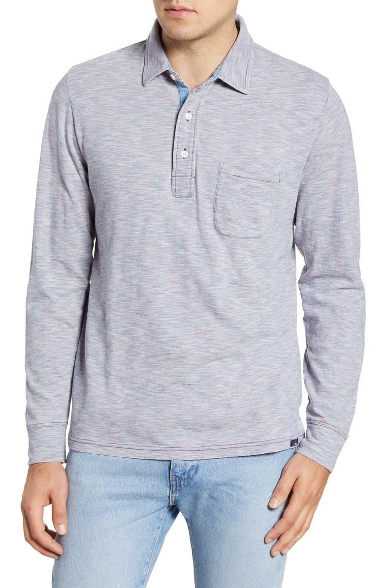 FAHERTY Stripe Long Sleeve Polo, Main, color, 630