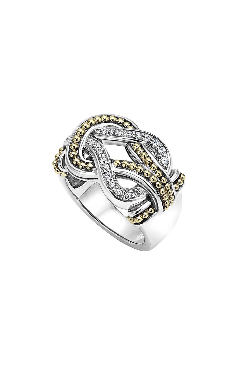 LAGOS 'Newport' Diamond Knot Ring | Nordstrom
