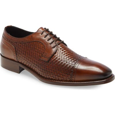 Johnston & Murphy Cormac Woven Derby, Brown