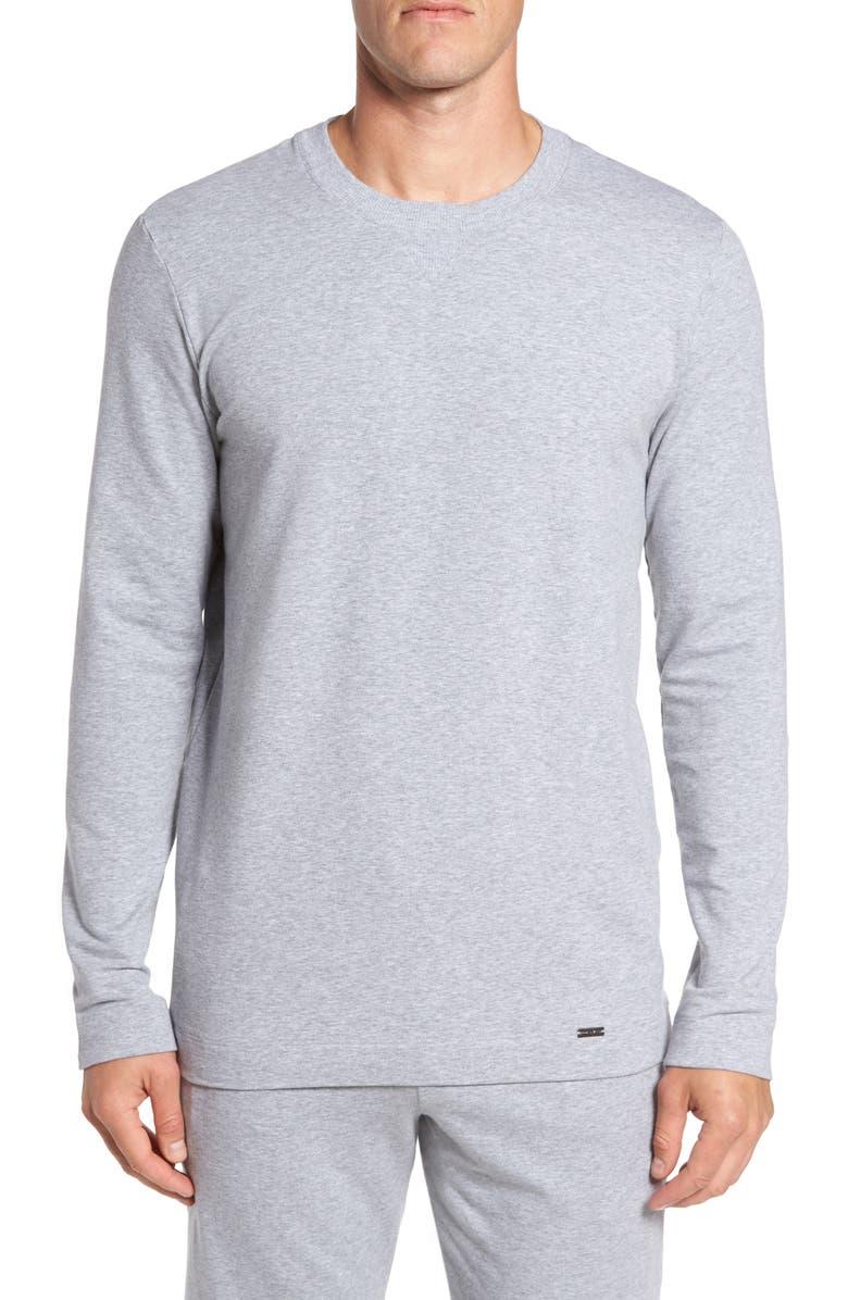 HANRO Living Pullover, Main, color, GREY MELANGE